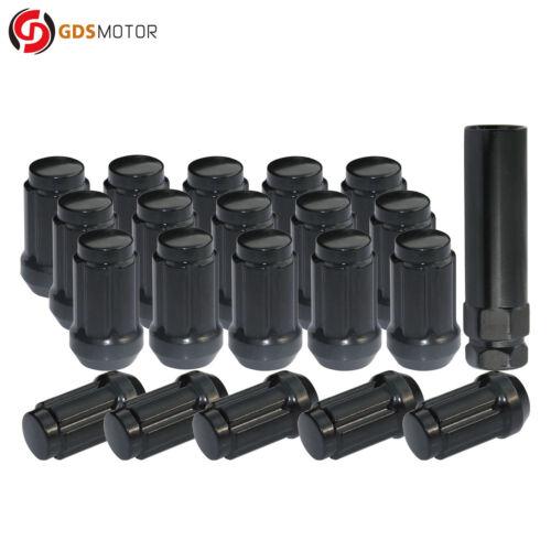 """20 Black 12x1.25 Steel 6-Spline Acorn Wheel Lug Nuts for Infiniti G35 1.4/"""" Tall"""