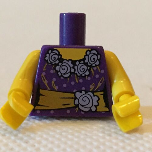 Lego minifigure torso purple dress top