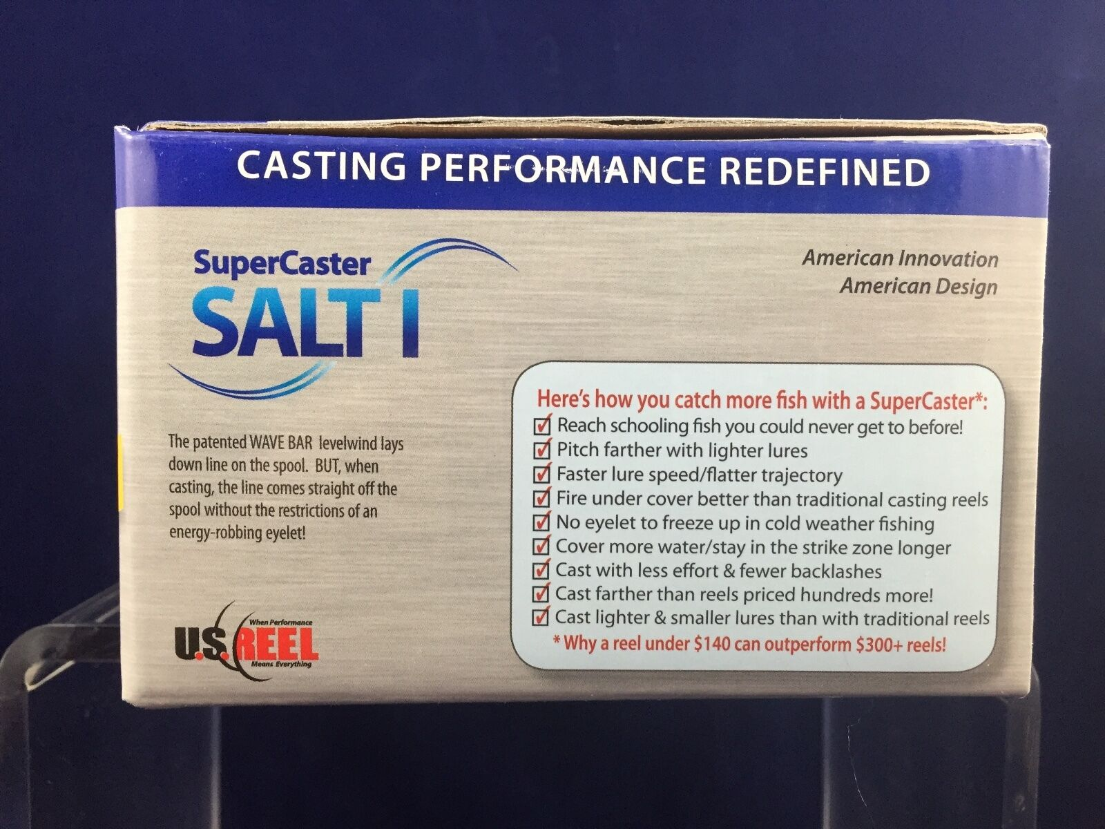 NEW  U.S. Hand Reel - SuperCaster Salt I Left Hand U.S. - Salt&Fresh Water - Bait Casting 27ab18