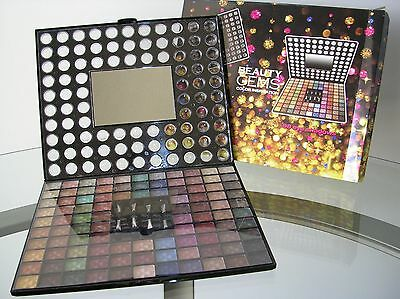 Beauty Gems Train Case Cosmetic Makeup Color Inspiration 98 Eye Shadows 2New SET
