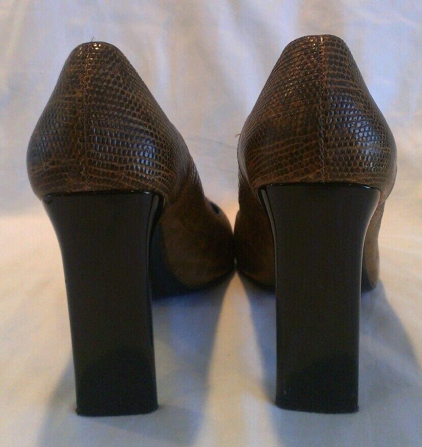 CASADEI braun braun braun SNAKESKIN EMBOSSED HEEL StiefelIES Größe 8.5B MADE IN ITALY 7fc0d5