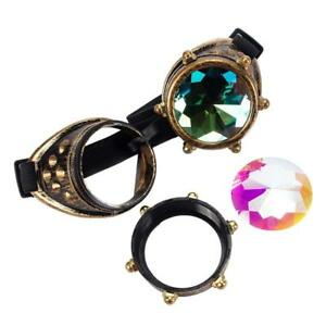 859f86bf4863 Image is loading Kaleidoscope-Steampunk-Rave-Glasses-Goggles-with-Rainbow- Crystal-