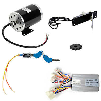 48V 1000 W Electric Drive Motor w Reverse Controller #35 10T Sprocket f GoKart