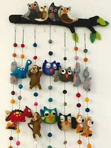 handmade felt animal garlands and hanger home decor baby room rh ebay ie felt succulent home decor project felt flowers home decor