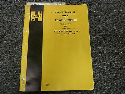 Hyster W6E Towing Winch Service Manual