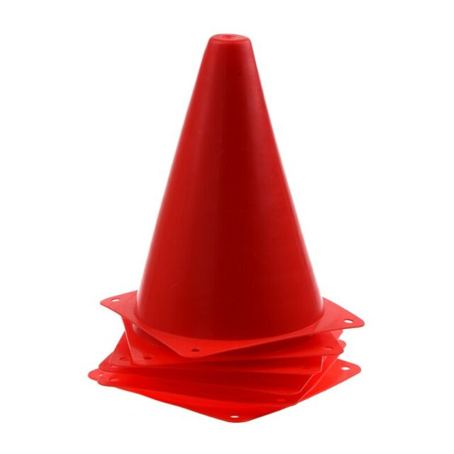 6x Multi-function Safety Agility Cone For Soccer Practice Drill Marking F6
