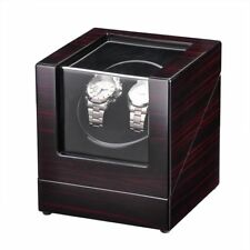 Deluxe Wood Watch Winder Automatic Rotation Organizer Box Storage Display Case