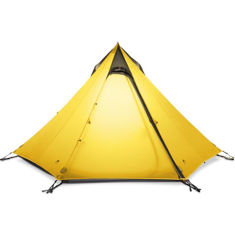 Ultralight Outdoor Camping Teepee 15d Silnylon Pyramid Tent 2-3 Persons Tent New