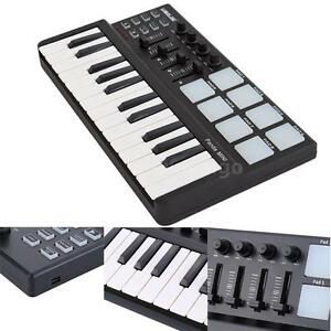 worlde panda 25 key usb keyboard and drum pad mini midi controller durable s2g3 ebay. Black Bedroom Furniture Sets. Home Design Ideas