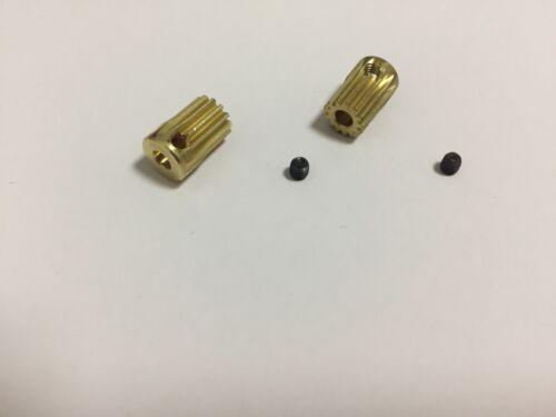 2p x Trex 450 11T 13T 3.17mm Copper motor pinion gears