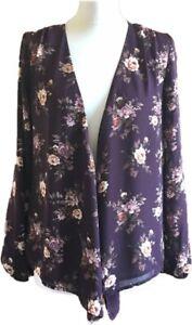 F21-Purple-Floral-Kimono-Blazer-Convertible-Wrap-Over-Lagenlook-Festival-S-8-10