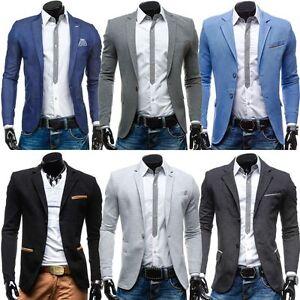 BOLF-Herren-Sakko-Anzug-Jacke-Sweatjacke-Slim-Fit-Classic-Blazer-Mix-4D4-Casual