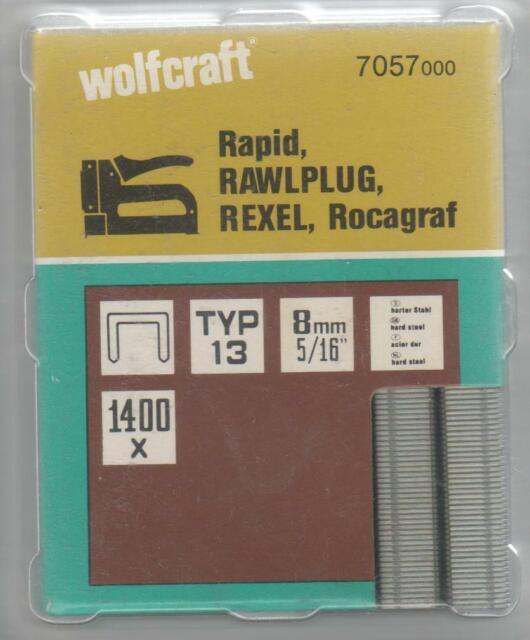 Wolfcraft Morsetto Tipo 013, 8 mm, Pacco 1400 Pezzo