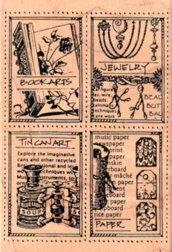 New STAMPERS ANONymous RUBBER STAMP postoid art crafts tile jewelry books tin