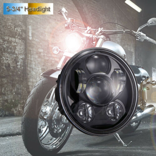 5.75 5 3//4 LED Headlight Black Projector DRL For Harley  Dyna Sportster