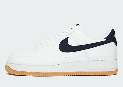 ⚫ genuino Nike Air Force 1'07 ® a bassa (Uomini Taglie UK: 6 & 7) BiancoOssidiana | eBay