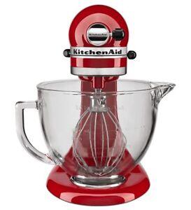 NEW-KitchenAid-5-Quart-Tilt-Head-Stand-Mixer-Glass-Bowl-amp-Flex-Edge