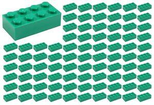 ID 3001 BULK Parts star wars Snow Ice Building ☀️100 NEW LEGO 2x4 WHITE Bricks