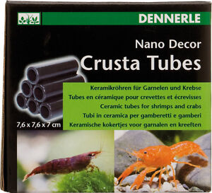 Dennerle crusta shrimp tubes s6 fish crayfish hides for Moai fish tank