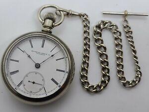 Antique Working 1887 ROCKFORD Watch CO. Victorian Silver Gents 15J Pocket Watch