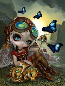 Jasmine-Becket-Griffith-art-print-steampunk-fairy-SIGNED-Clockwork-Dragonling