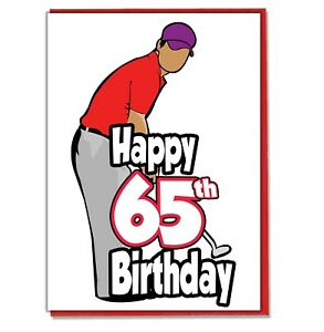 Image Is Loading Golf Golfer 65th Birthday Card Dad Son Grandson