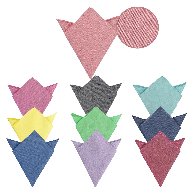 James Alexander Designer Plain Chambray Cotton Pocket Square Handkerchief