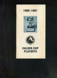 1980 81 Ahl American Hockey League Calder Cup Playoffs Media Guide