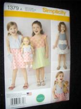 """18"""" Doll NEW Simplicity 1379 Pattern Size 3-8 Girl 3 Dresses Fits American Girl"""