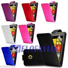 Funda de CUERO PIEL para Nokia LUMIA 520 Colores Varios Leather Case Flip Cover