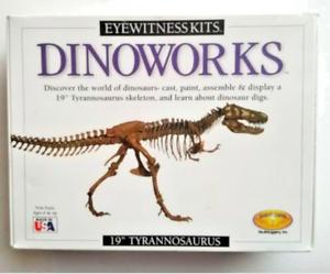 "Dinoworks 19"" Tyrannosaurus Rex cast paint  Kit eyewitness kits age 6+"