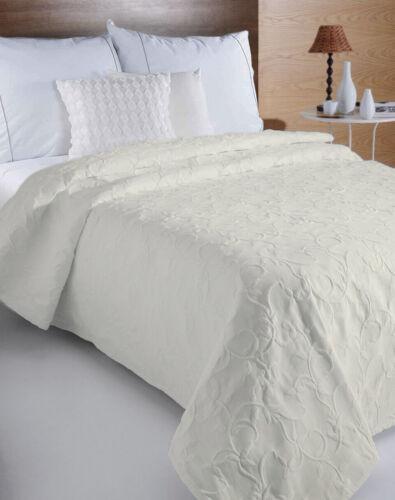 Florentina Jacquard Floral Cotton Rich Portuguese Bedspread Quilt Throw Over