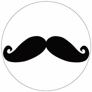 Set-de-4-dessous-de-verres-ronds-Moustache-noire-by-Cbkreation