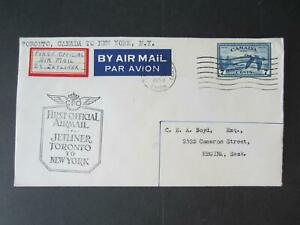 Canada-First-Flight-cover-Toronto-to-NY-1950-5005-438