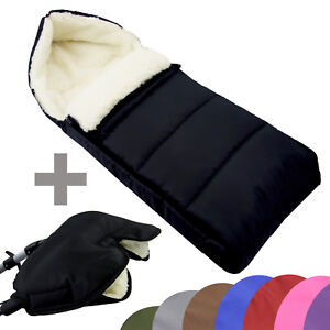 muff winterfu sack aus wolle f r kinderwagen handw rmer 90cm liniert neu ebay. Black Bedroom Furniture Sets. Home Design Ideas