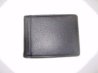 Trafalgar Mens Murray Hill Genuine Leather Brown Card Case wallet NIB Free Ship