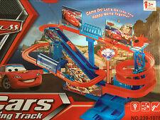 Lightning McQueen Kids Car Park Parking Garage City Racing Cars Track Toy