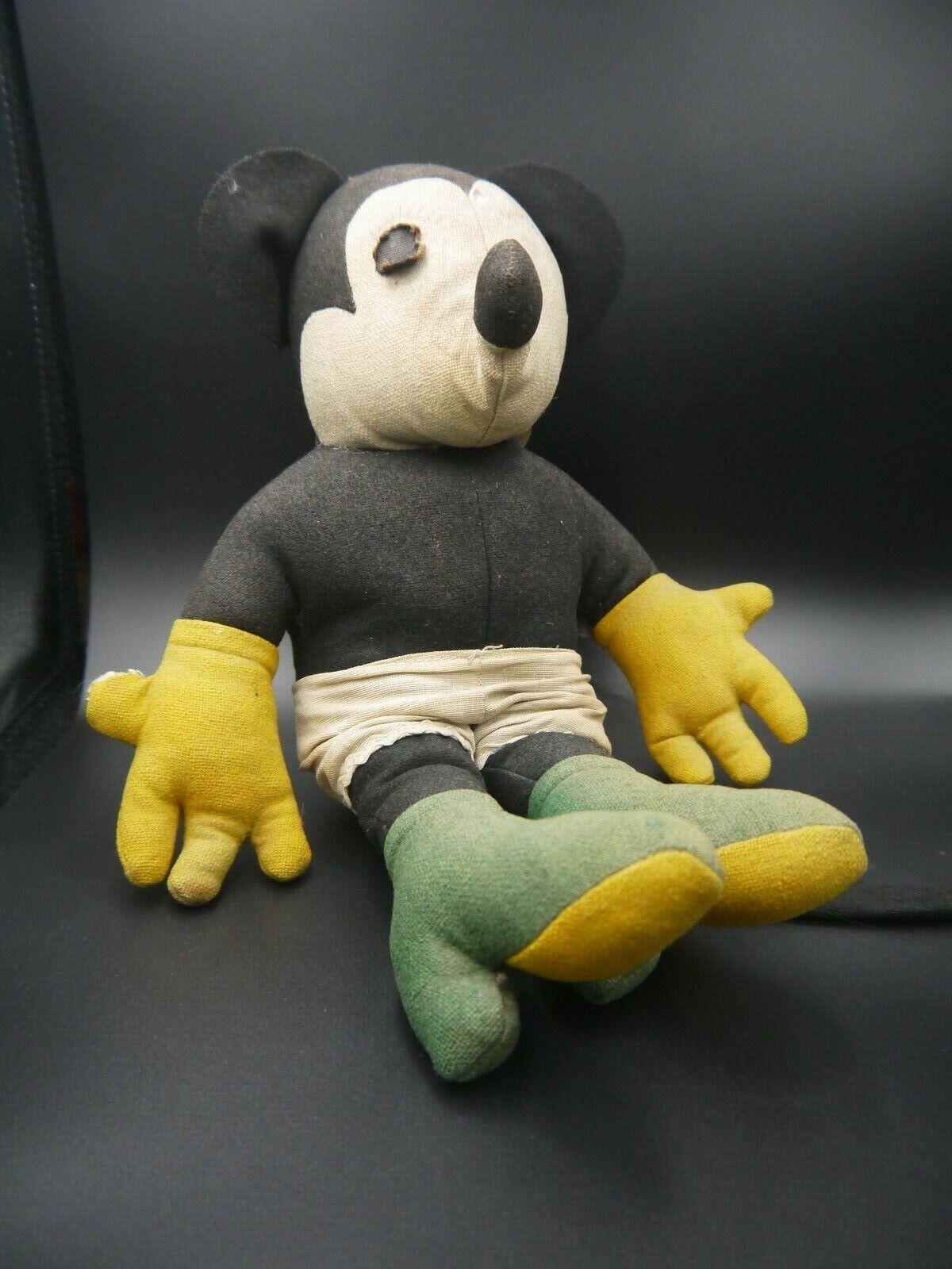 Antiguo Minnie Mouse (Mi mi) Muñeco De Trapo-Original
