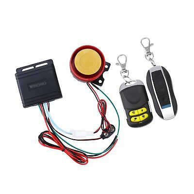 WINOMO Motorcycle Alarm System Anti Theft Security System with Double Remote Control 12v Universal 10921444Y1O65276