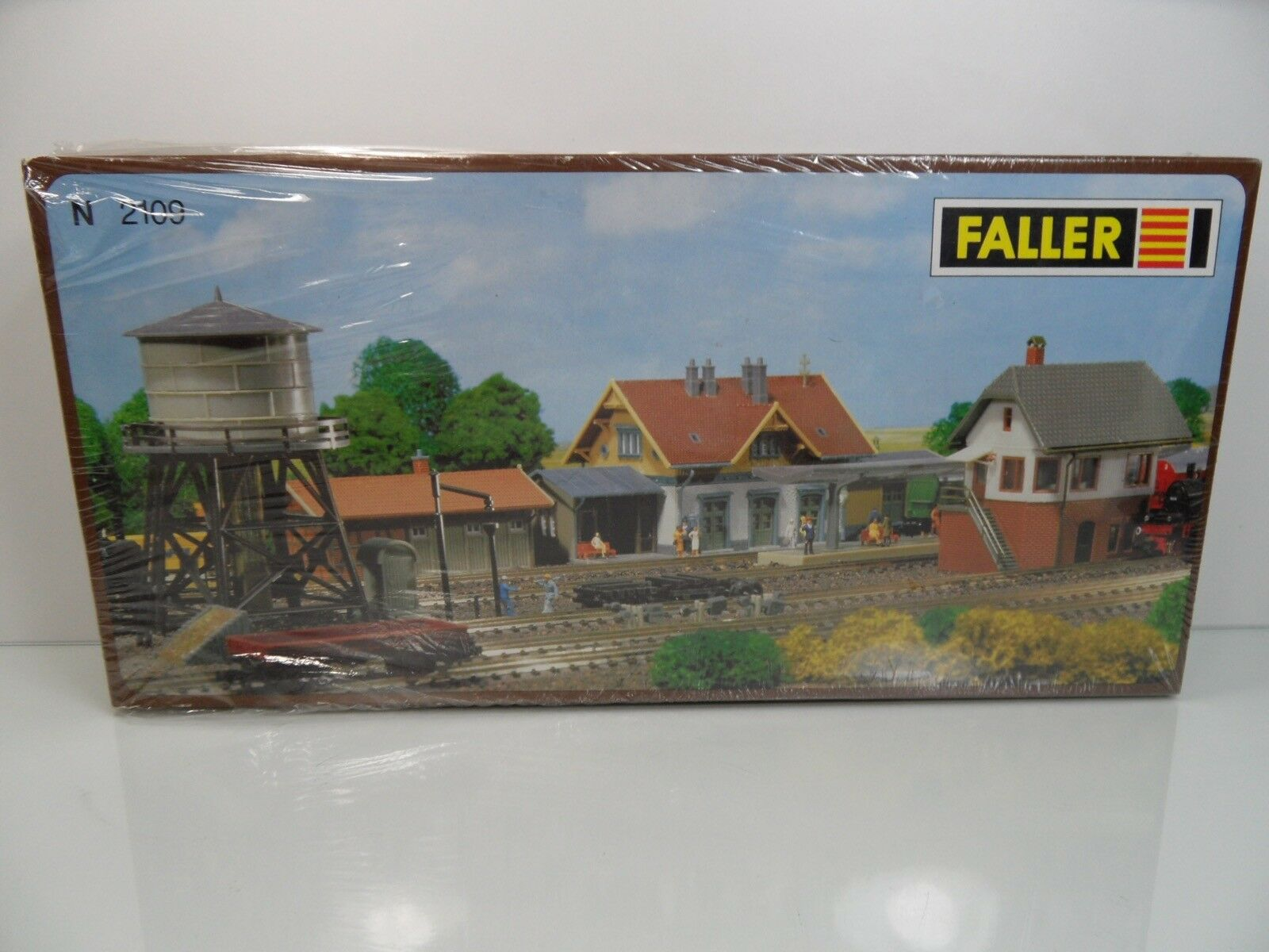 Faller 2109 - Spur N - Bahnbauten-Set - TOP in OVP  -  9407