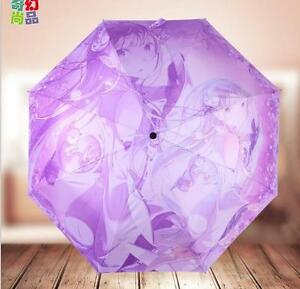 Begeistert Re:zero Kara Hajimeru Isekai Seikatsu Anime Taschenschirm Regenschirm Schirm Manga & Anime Herren-accessoires