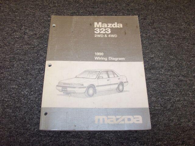 1990 Mazda 323 2wd  U0026 4wd Hatchback Electrical Wiring