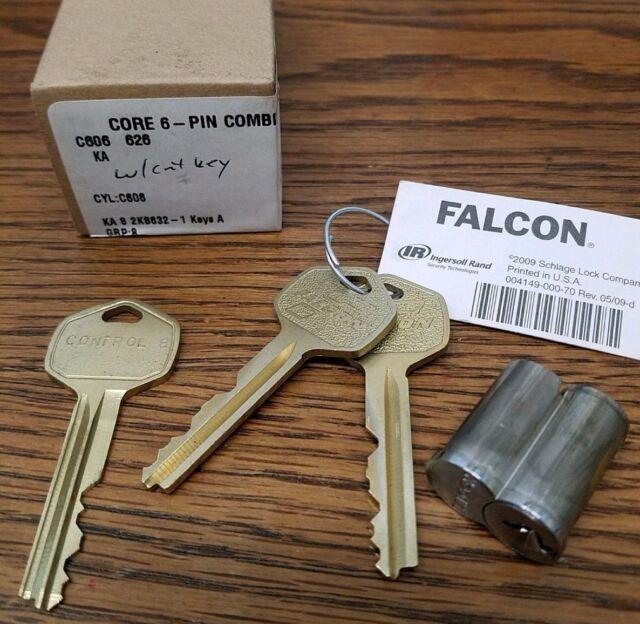 interchangeable Core 6-pin A Keyway w// 2 Keys SFIC Best // Arrow // Falcon IC