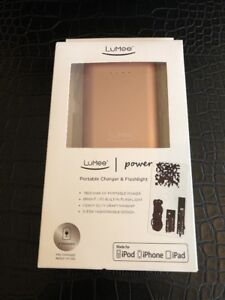 hot sale online d7dbd 74d3a Details about LuMee Power Portable Charger & Flashlight Brand New ROSE 7800  mAh iphone