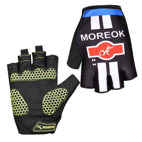 Cycling Half Short Finger Gloves Shockproof Breathable Sporting Biker Fingerless