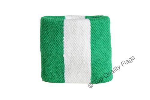 WRISTBAND Nigeria Flag SWEATBAND 7x8cm