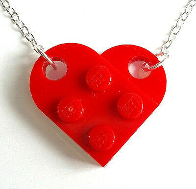 Love Heart Necklace made with LEGO bricks best friend wedding valentines day