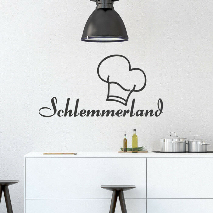 Wandtattoo Spruch  Schlemmerland , Küche, Esszimmer, Wandsticker, Wandaufkleber