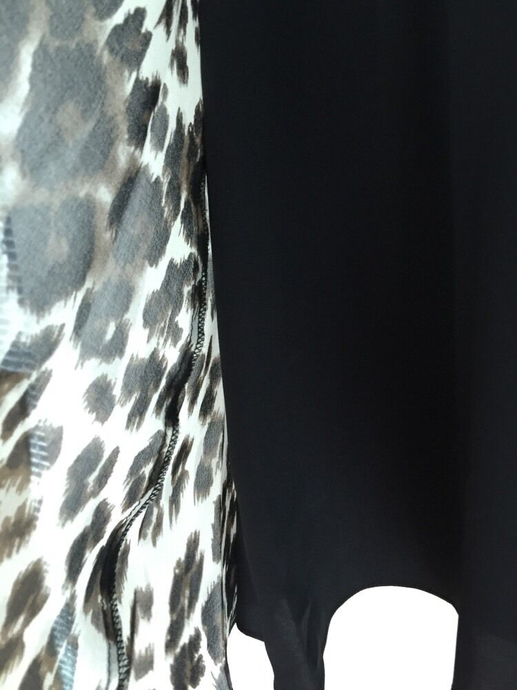 Nuovo Diane Von Furstenberg Dvf Manica Lunga ad a Abito Abito Abito Neve Ghepardo e318d7