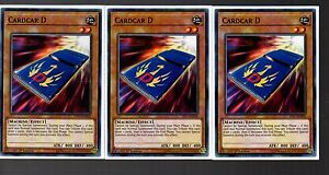 Yugioh-Playset-of-3x-YS17-EN016-Cardcar-D-1st-EDITION-NEW
